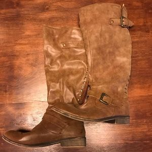Shoes - Cactus Brown Back Zipper Boots